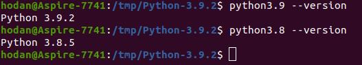 Установлено несколько версий Python в ОС Линукс