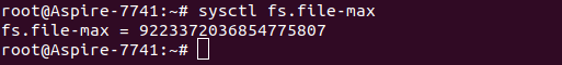 Настройка параметра fs.file-max