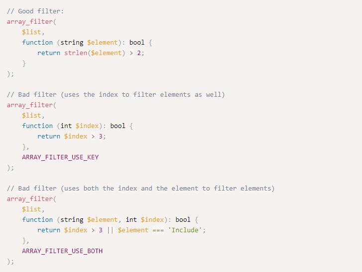 Использование array_filter ()