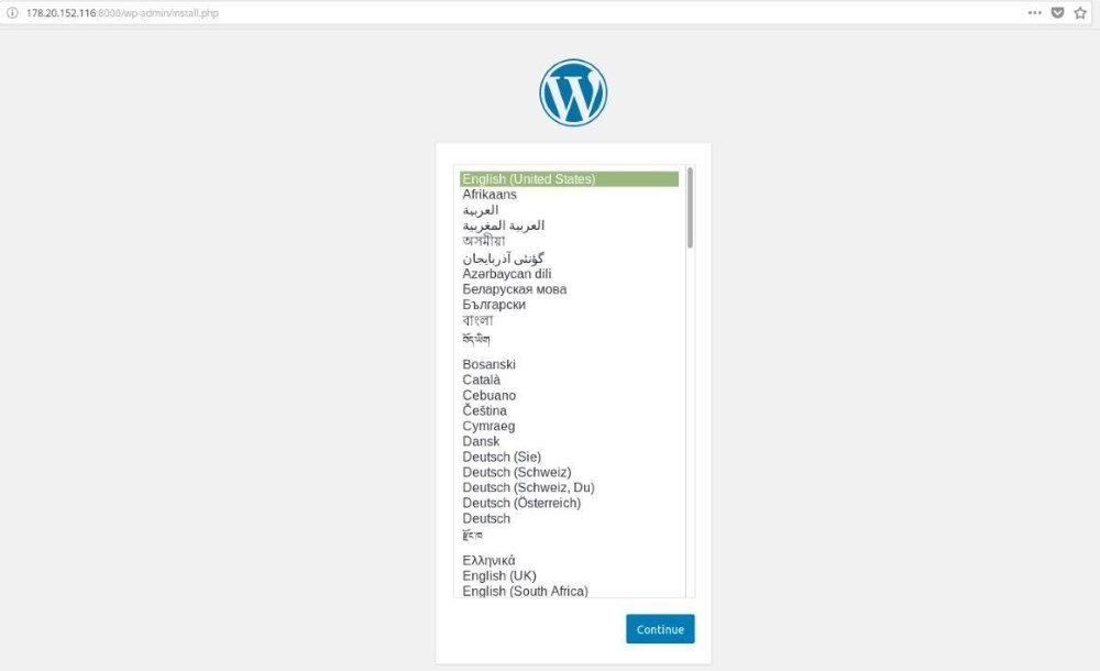 Установка WordPress в Docker