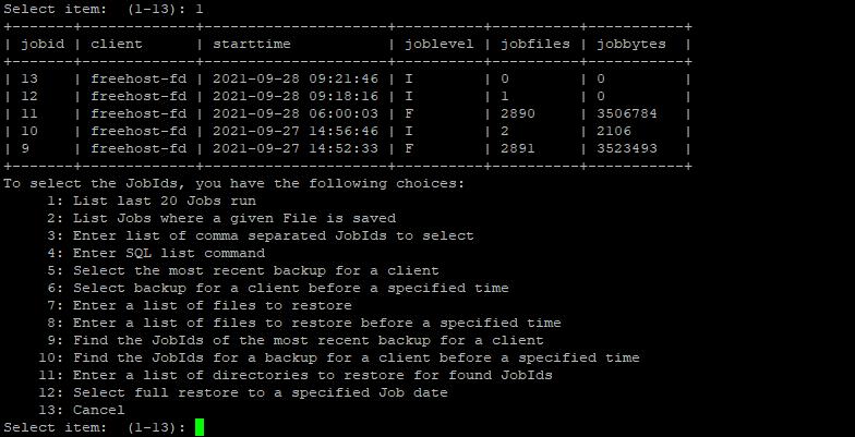восстановление файлов из резервной копии