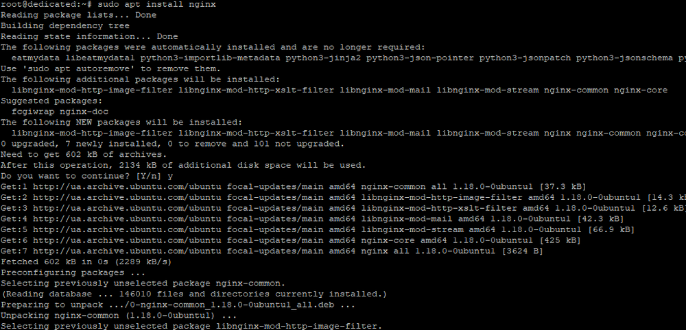 Установка веб-сервера Ngnix