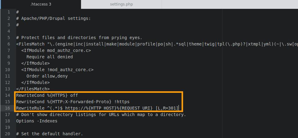 Правильно настроенный HTTPS для Drupal.