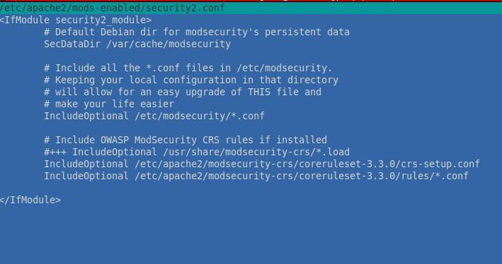 Редактирование security2.conf