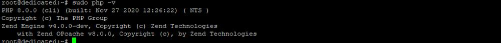 Проверка версии PHP