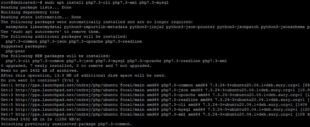 Установка дополнительных модулей для различных версий PHP на сервере