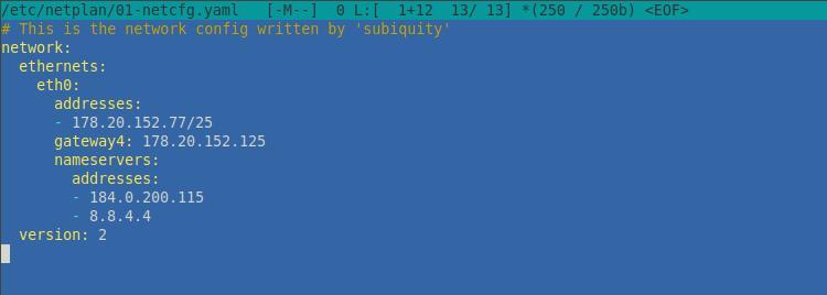 Файл конфигураций