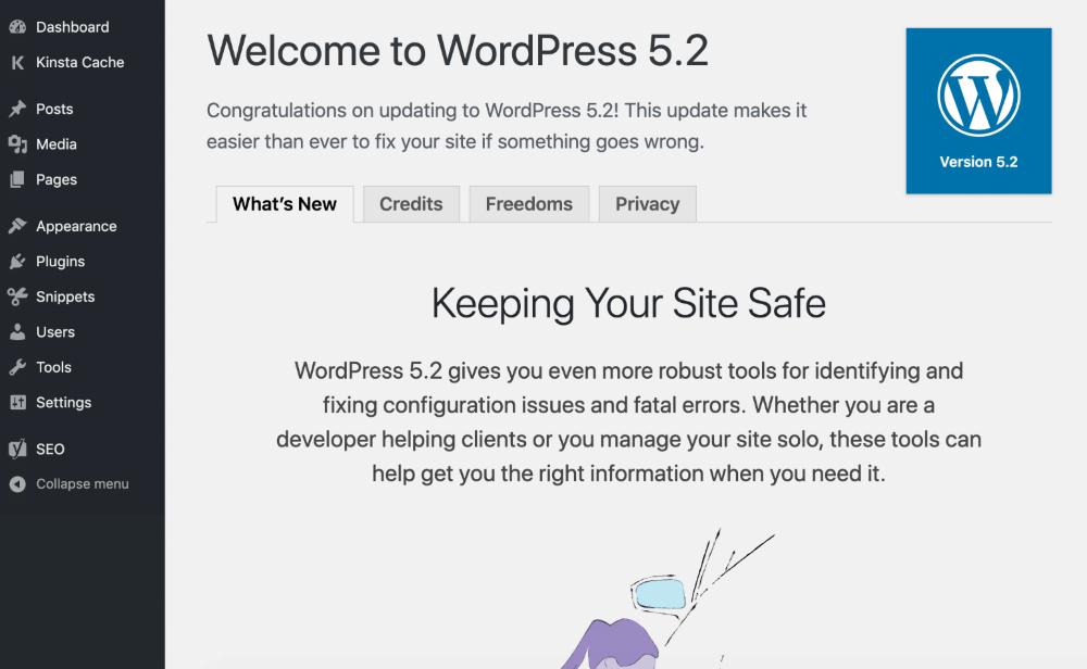 Приветсвите в WordPress  в наше время.