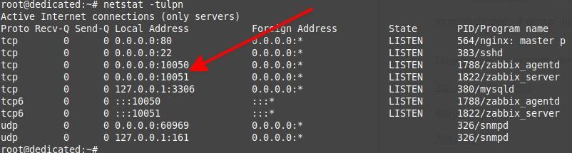 проверка работы портов на сервере